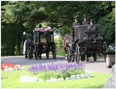 Traditional Black Horse Drawn Hearse